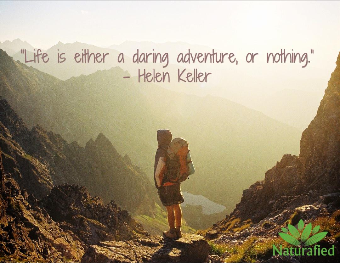 """<center>Helen Keller – """"Life is either a daring adventure…""""</center>"""